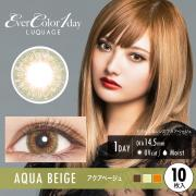 EverColor1dayLUQUAGE GLOSSY STYLE LINE/10枚入り/アクアベージュ