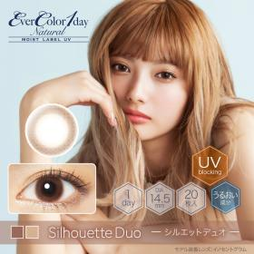 EverColor1dayNatural Moistlabel UV/1day/20枚入り/シルエットデュオ